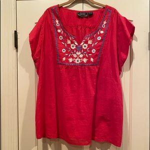Light & Cool Red Summer Top
